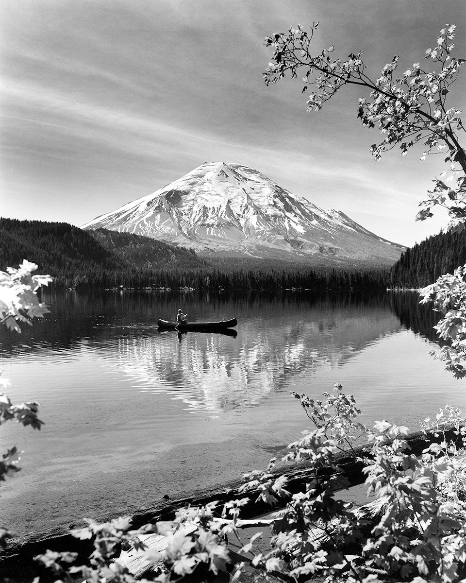 6243C Mount St Helens Spirit Lake with canoe