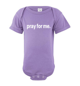 pray for me signature short sleeve bodysuit | more colors available