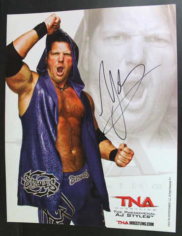 AJ Styles Pose 2 11x14 Signed Photo COA
