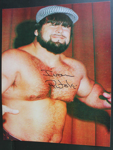 Ivan Putski Pose 2 11x14 Signed Photo COA
