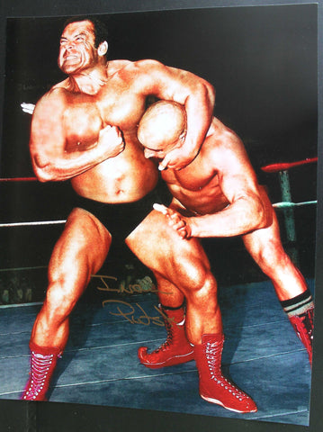 Ivan Putski Pose 1 11x14 Signed Photo COA