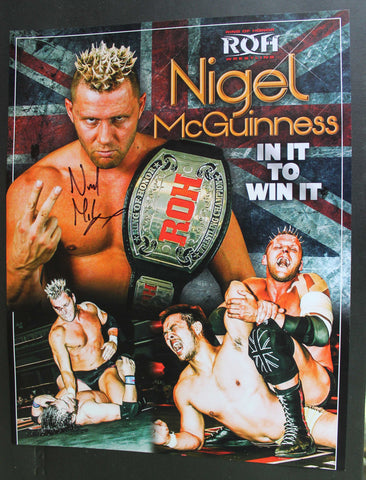 Nigel McGuinness ROH 11x14 Signed Photo COA