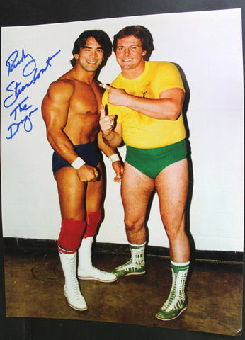 "Ricky Steamboat Pose 2 Inscribed ""The Dragon"" 11x14 Signed Photo"