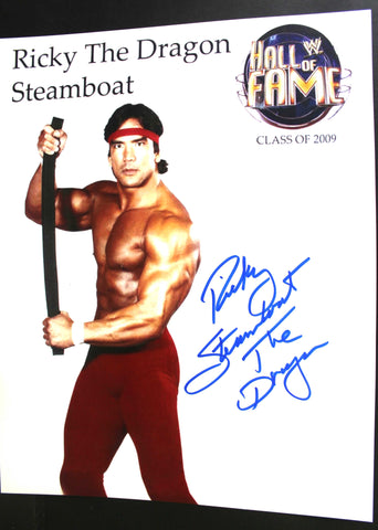 "Ricky Steamboat Pose 3 Inscribed ""The Dragon"" 11x14 Signed Photo"