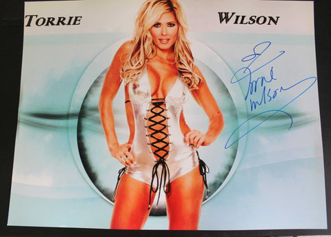 Torrie Wilson Signed 11x14 Photo COA