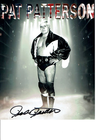 Pat Patterson Pose 3 Signed Photo COA