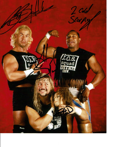 The J.O.B. Job Squad Bob Holly Al Snow Head 2 Cold Scorpio Signed Photo COA