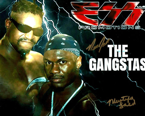 The Gangstas (New Jack & Mustafa) Dual Signed Pose 3 Photo COA