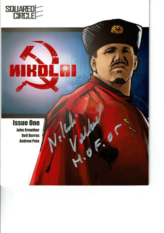 Squared Circle Comic Issue 1 Signed By Nikolai Volkoff