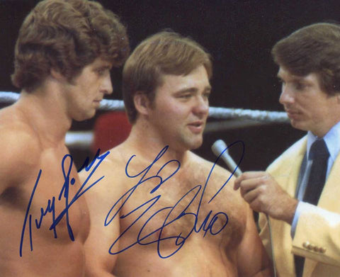 Tony Garea & Larry Zbyszko Dual Signed Photo COA