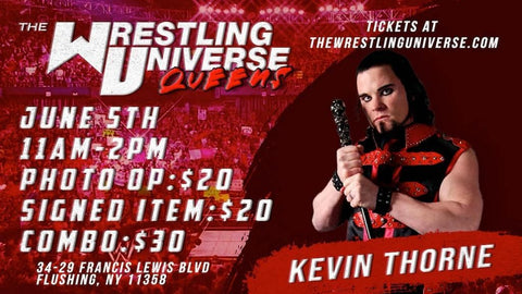 In-Store Meet & Greet with Kevin Thorne Sat June 5th from 11AM-2PM TIX NOT MAILED (CHOOSE COMBO $30/SIGNED ITEM $20/PHOTO OP $20)