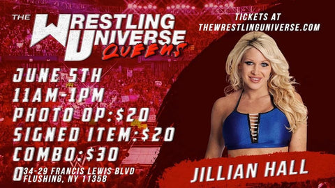 In-Store Meet & Greet with Jillian Hall Sat June 5th from 11AM-1PM TIX NOT MAILED (CHOOSE COMBO $30/SIGNED ITEM $20/PHOTO OP $20)