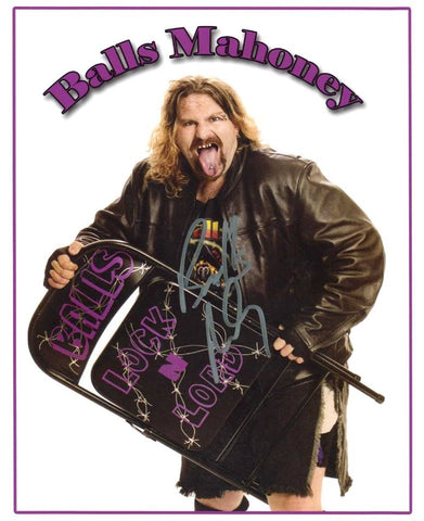 Balls Mahoney Pose 2 Signed Photo COA