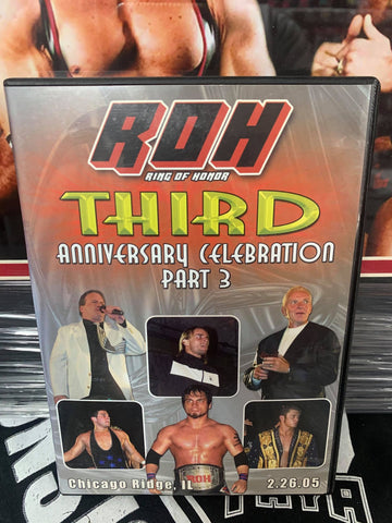ROH Ring Of Honor 3rd Anniversary Celebration Part 3 2/26/05 DVD OOP