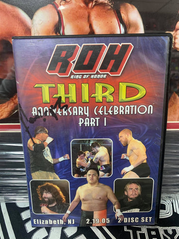 ROH Ring Of Honor 3rd Anniversary Celebration Part 1 Signed by Homicide (2 Disc Set) 2/19/05 DVD OOP