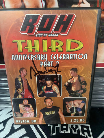 ROH Ring Of Honor 3rd Anniversary Celebration Part 2 (Signed by Homicide) DVD OOP