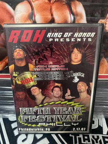 ROH Ring Of Honor 5th Year Festival 2/17/07 PA (Signed by Homicide) DVD OOP