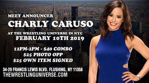 Meet Charly Caruso Sun Feb 10th From 12-2PM CHOOSE AUTO $25/PHOTO OPP $25/COMBO $40