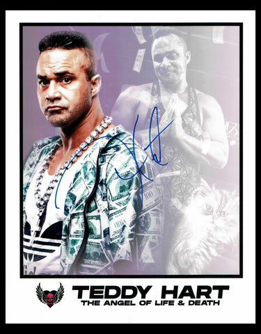 Teddy Hart Pose 1 Signed Photo COA