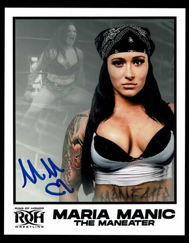 Maria Manic Signed Photo COA