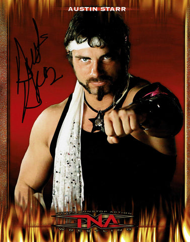 Austin Starr (Aries) Official TNA Promo Pose 1 Signed Photo COA