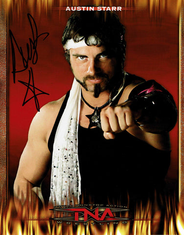 Austin Starr (Aries) Official TNA Promo Pose 2 Signed Photo COA