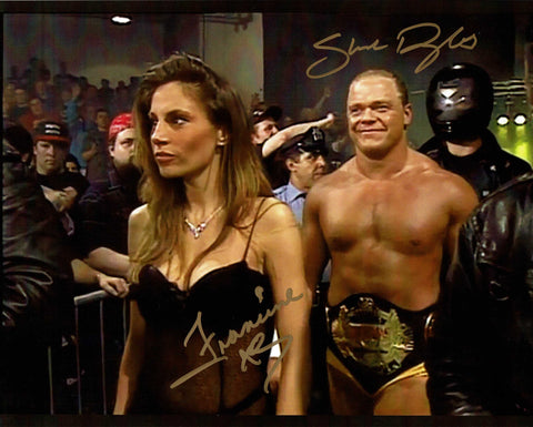 Francine & Shane Douglas Pose 2 Dual Signed Photo COA