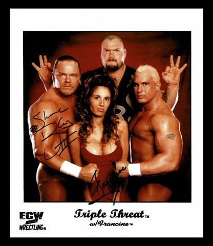 Francine & Shane Douglas Pose 1 Dual Signed Photo COA