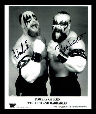 Powers Of Pain Pose 3 (Black or Blue Ink) Dual Signed Photo COA