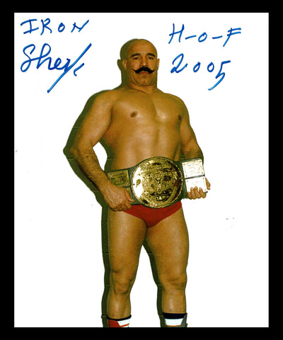 The Iron Sheik Pose 6 Signed Photo COA