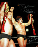 Tito Santana & Ivan Putski Pose 2 Dual Signed Photo COA