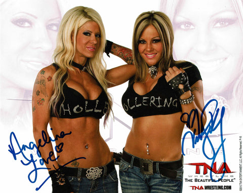 The Beautiful People Velvet Sky & Angelina Love Signed Official TNA Promo COA