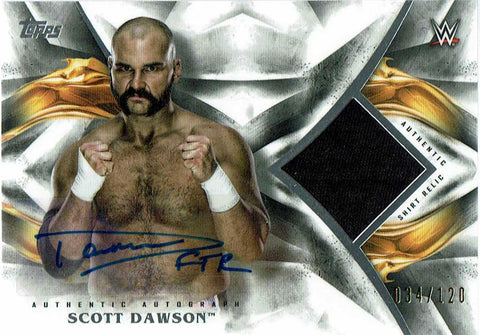 2019 Topps WWE Undisputed Scott Dawson Signed Relic #34/120