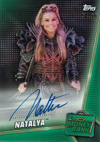 2019 WWE Topps Money In The Bank Natalya Neidhart Signed #94/99