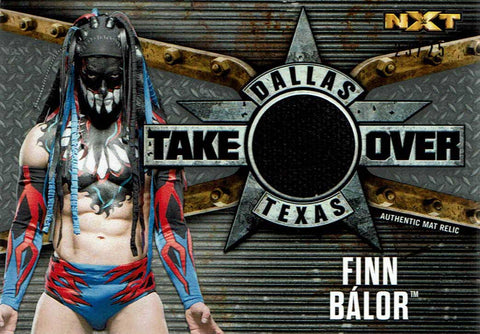 2017 Topps WWE Road to Wrestlemania NXT Takeover Mat Relic Finn Balor
