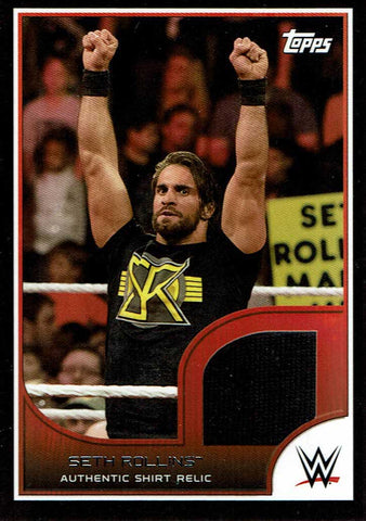 2016 Seth Rollins Topps WWE Road to Wrestlemania Shirt Relic #/350