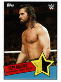 WWE Seth Rollins 2015 Topps Heritage Event Used Shirt Relic
