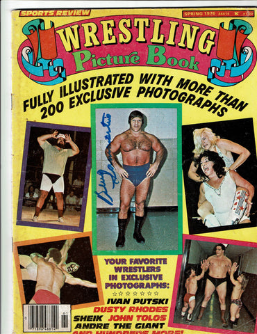 Wrestling Picture Book Magazine Spring 1976 Signed by Bruno Sammartino