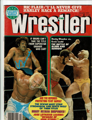 Inside Wrestling Magazine October 1977 Signed by Bruno Sammartino
