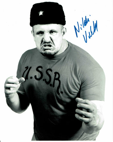 Nikolai Volkoff Pose 10 Signed Photo COA