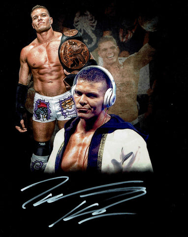 Tyson Kidd Pose 2 (White Ink) Signed Photo COA