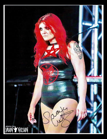 Saraya Knight Pose 1 Signed Photo COA