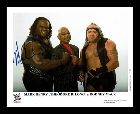 Theodore (Teddy Long) Rodney Mack Mark Henry Official WWE Promo Signed COA