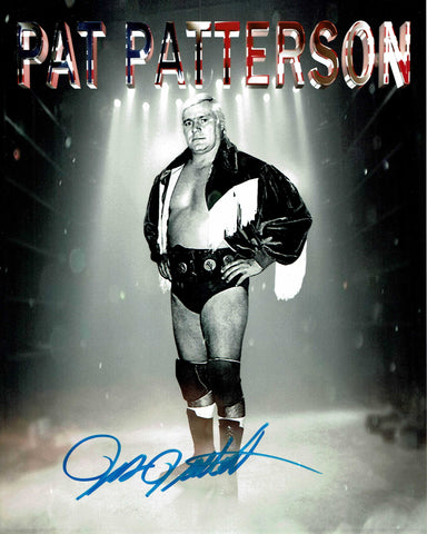 Pat Patterson Pose 3 (Blue Ink) Signed Photo COA