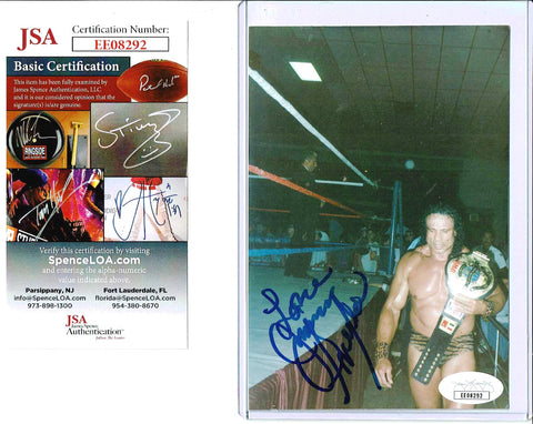 Jimmy Snuka Signed Candid Photo COA JSA