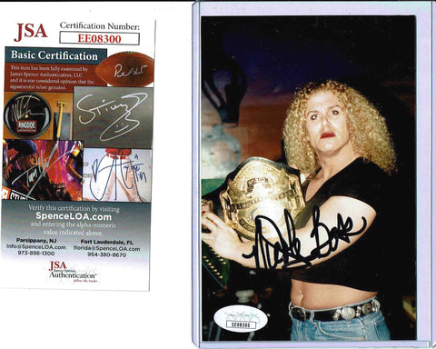 Nicole Bass Pose 2 Signed Candid Photo COA JSA