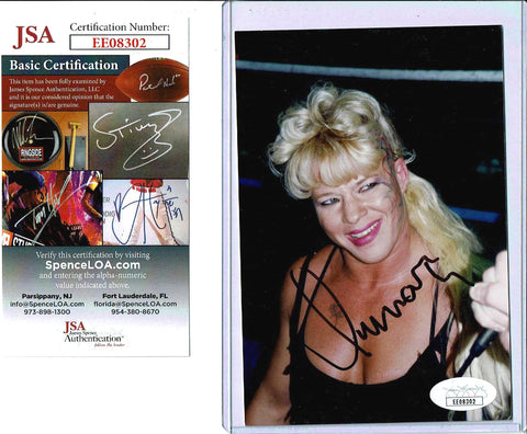 Luna Vachon Pose 2 Signed Candid Photo COA JSA