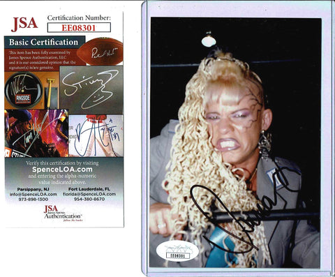 Luna Vachon Pose 1 Signed Candid Photo COA JSA