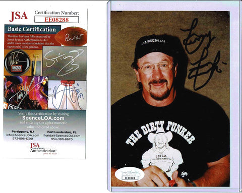 Terry Funk Pose 3 Signed Candid Photo COA JSA