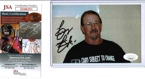 Terry Funk Pose 2 Signed Candid Photo COA JSA